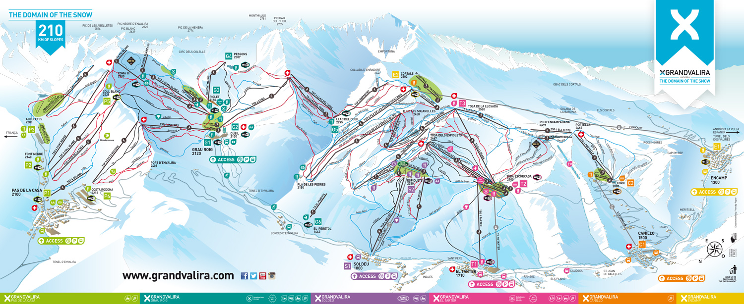 Barcelona ski tours S3 Day Ski Tour to Andorra Grandvalira from