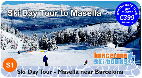 Day Ski Trip from Barcelona to Masella